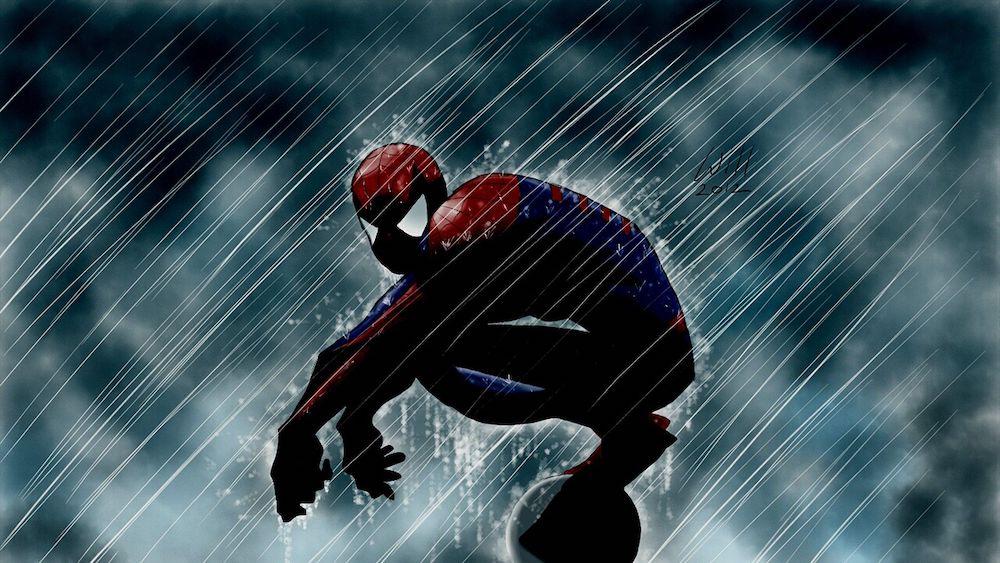 spider man rain